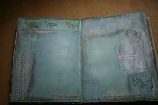Art Journal - Blue Page
